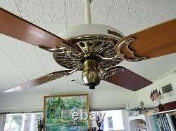 100 Year Old Hunter C17 Antique Electric 52 Ceiling Fan-vintage-restored-museum