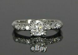 $12,500 Vintage GIA Platinum 1.13ct Old European Cut Diamond Engagement Ring 6