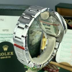 1999 NOS Rolex GMT Master 16700 Pepsi New Old Stock Full Set Box & Papers