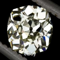 1.05c OLD MINE ELONGATED CUSHION CUT DIAMOND ANTIQUE VINTAGE ESTATE 1 CARAT 1ct