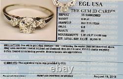 1.08 ct 18K White Gold Old European Cut Diamond Vintage Engagement Ring Rtl $8k