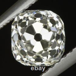 1.25ct OLD MINE CUT J SI2 DIAMOND VINTAGE ANTIQUE CUSHION SHAPE NATURAL LOOSE