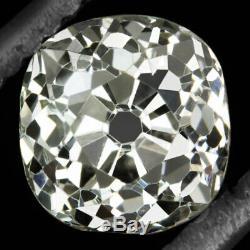 1.32c OLD MINE CUT DIAMOND GIA CERTIFIED K VS2 ANTIQUE VINTAGE CUSHION BRILLIANT
