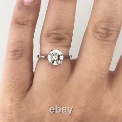 1.75 ct Vintage Antique Old European Cut Diamond Engagement Ring In Platinum
