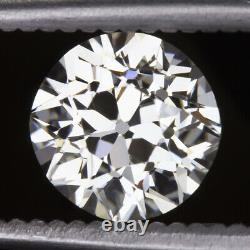 1.82ct OLD EUROPEAN CUT DIAMOND CLEAN WHITE VINTAGE ANTIQUE NATURAL 1.75 CARAT