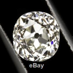 1.84ct CERTIFIED VS1 OLD MINE CUT DIAMOND ANTIQUE CUSHION BRILLIANT VINTAGE 2ct