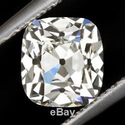 1 Carat Gia Certified K Vvs1 Old Mine Ideal Cut Diamond Antique Vintage Cushion