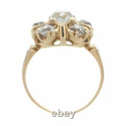 2.00ct Old Mine Cut Certified Diamond Antique Yellow Gold Engagement Ring