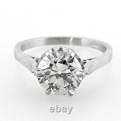 2.05 ct Vintage Antique Old European Cut Diamond Engagement Ring In Platinum