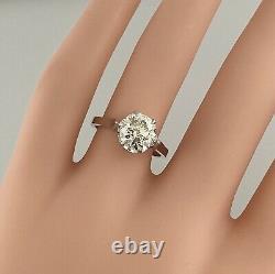 2.20 ct Vintage Antique Old European Cut Diamond Engagement Ring In Platinum