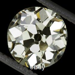 2.20ct ANTIQUE OLD MINE CUT DIAMOND ROUND EUROPEAN 8.2mm LOOSE VINTAGE 2ct DECO