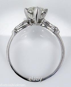 2.25ct Antique Vintage Deco Old Marquise Diamond Engagement Wedding Ring Plt Egl
