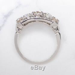 2.25ct OLD EUROPEAN CUT DIAMOND PLATINUM DESIGNER RING VINTAGE COCKTAIL BAND 20s