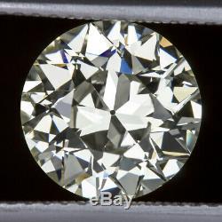 2.5ct GIA CERTIFIED VS2 8.9mm OLD EUROPEAN CUT DIAMOND VINTAGE ANTIQUE ART DECO
