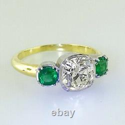 2.70 ct Vintage Antique Old European Cut Diamond Engagement Ring Old Mine platin