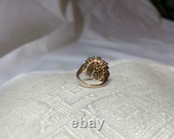 2 CT Old Mine Cut Diamond Platinum Pearl Ring Antique Victorian Art Deco Flower