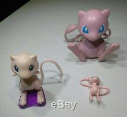 3Different MEW Vintage TOMY Nintendo Old Pokemon Mini Figures Toy Lot Collection
