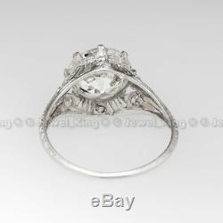 3.11 CT Old European Cut Art Deco Antique 14K Gold Over Engagement Vintage Ring