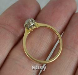 Antique 0.60ct Old Cut Diamond 18ct Gold and Platinum Solitaire Engagement Ring