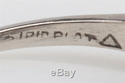 Antique 1940s $8000 1.50ct Old Mine Cut Diamond Platinum Wedding Ring