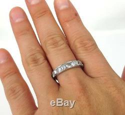 Antique 1.20ct Old Mine Cut Diamond & Platinum Ring Size 6