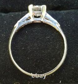Antique Art Deco c1920s Old European Cut Diamond Platinum Ring Estate Jewelry