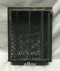 Antique Cast Iron Gothic Heat Grate Floor Register 12X15 Vintage Old 170-19C