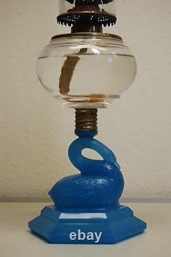 Antique Old Kerosene Oil Atterbury Boston Sandwich Glass Victorian Eapg Lamp