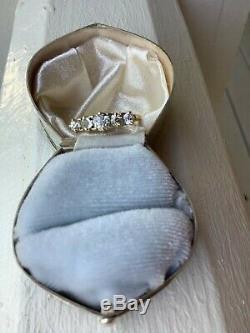 Antique Old Mine Cut Five Diamond Wedding Band. 86 CTW