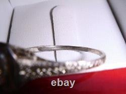 Antique Platinum Vs1/i 0.75ct Old European Cut Diamond Engagement Ring 9.75