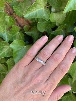 Antique Victorian Old Cut Diamond 5 Stone 18ct Gold Ring Half Eternity Gypsy 1ct