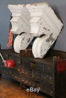 Antique Vintage Corbels Architectural Salvage White Kitchen Farmhouse Decor Old