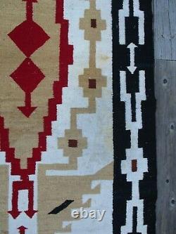Antique Vintage Old Large Native American Indian Rug Blanket Navajo Art 88 Inch