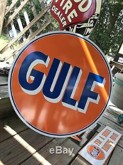 Antique Vintage Old Look Gulf Sign 24