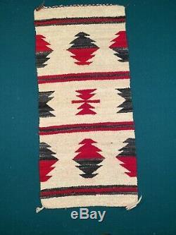 Antique Vintage Old NAVAJO Saddle Blanket Rug Native American (B)