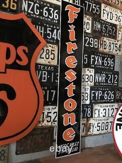 Antique Vintage Old Style Firestone Sign Vintage Look 48