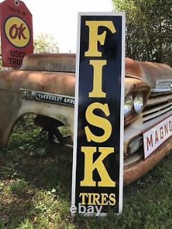 Antique Vintage Old Style Fisk Tires Sign