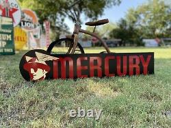 Antique Vintage Old Style Mercury Auto Sign