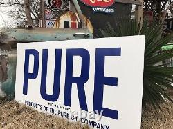 Antique Vintage Old Style PURE Gas Oil Sign
