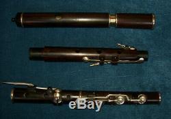Antique Vintage Old Wooden 8 Key Irish Cocus Flute Blackman London