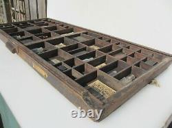 Antique Wooden Printers Drawer Tray Wall Display Rack Letterpress Old Vintage