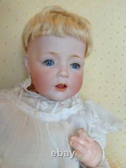 Antique doll Kestner baby doll JDK cute Hilda with old dress bonnet