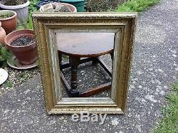 Beautiful Pair Vintage Antique Gilt Gold Leaf Old Worn Frames Decorative Home