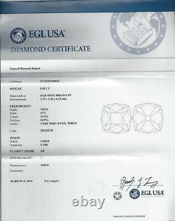 CERTIFIED 0.82ct OLD MINE CUT DIAMOND I SI2 EYE CLEAN ANTIQUE VINTAGE EUROPEAN