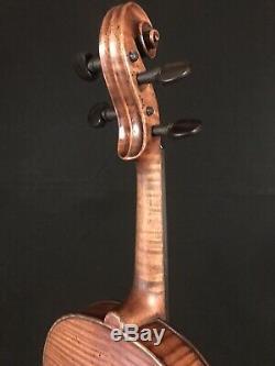 C. 1860-1890 Jacobus Stainer 4/4 Full Size Violin Vintage Old Antique Fiddle