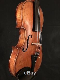 C. 1920 John Juzek 4/4 Full Size Violin Vintage Old Antique Fiddle