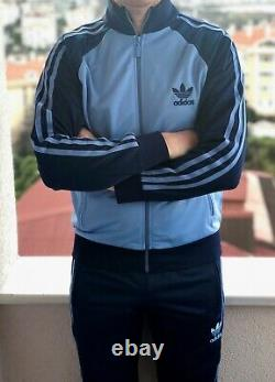 Classical Adidas tracking suit vintage old school tracksuit LIGHT BLUE M, XL