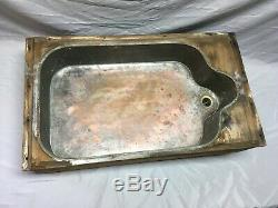Early Antique Nickel Copper Under Mount Kitchen SInk Basin Old Vtg 201-19E