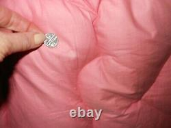 Eiderdown Feather Antique Vintage Rose Pink Single Bed Cotton Sateen Old Downton