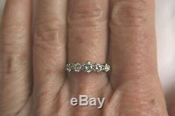 Fine Antique 18ct Gold & Plat 0.55ct Old Cut Diamond Five Stone Half Hoop Ring